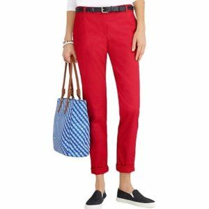 Talbots The Weekend Chino Red Pants Size 14